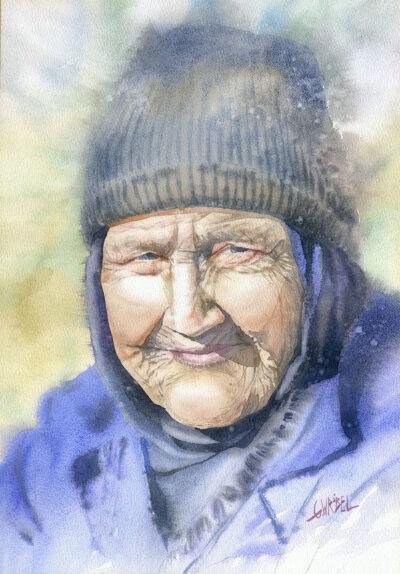 Babcia w czapce