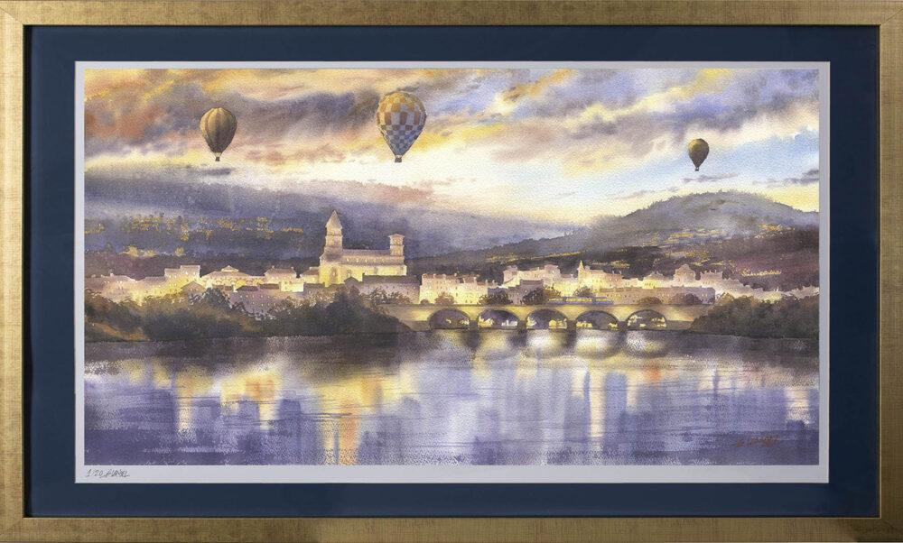Grzegorz Wróbel - inkografia Brioude panorama