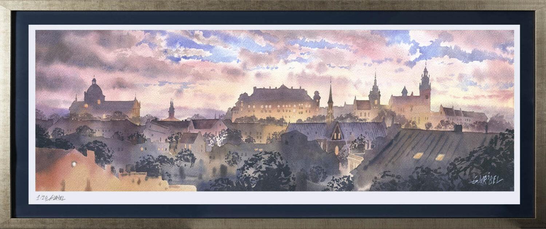 Grzegorz Wróbel - inkografia Kraków panorama