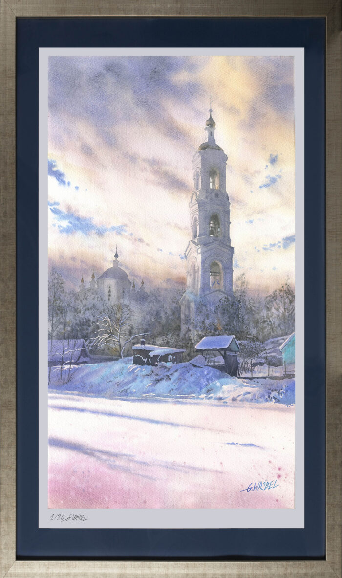 Grzegorz Wróbel - inkografia Zimowa dzwonnica