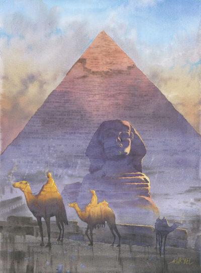 Grzegorz Wróbel - Cheops Sfinks Wielbłądy Egipt